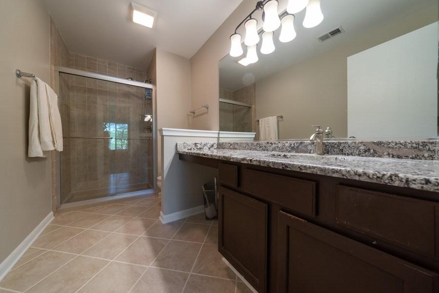 Real Estate Photography - 30W028 Juniper Court, Unit 028, Warrenville, IL, 60555 - Master Bathroom