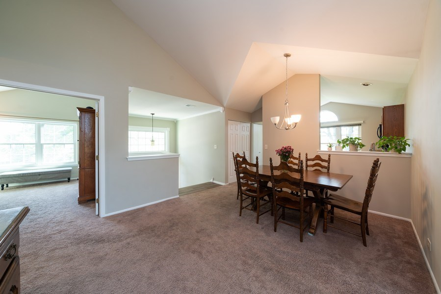 Real Estate Photography - 30W028 Juniper Court, Unit 028, Warrenville, IL, 60555 - Dining Room