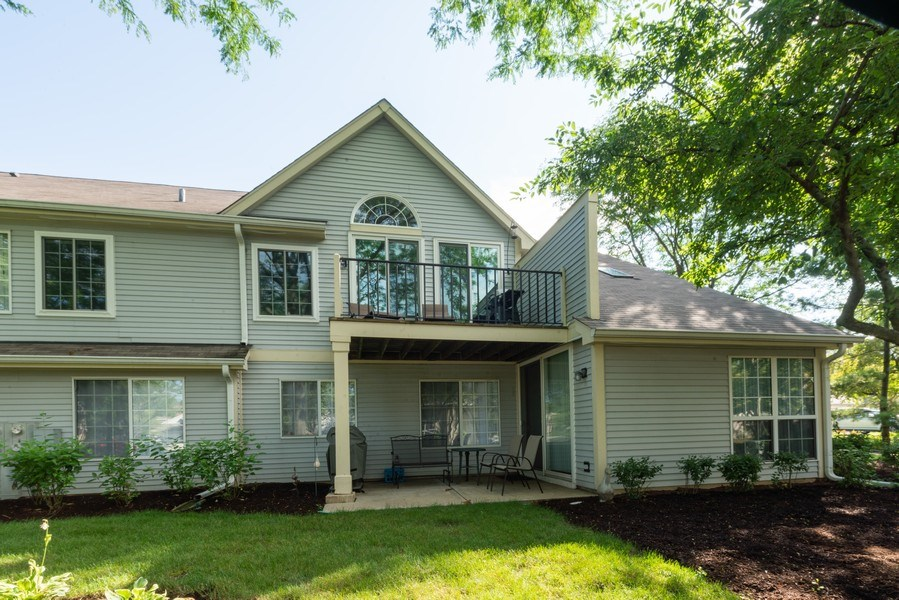 Real Estate Photography - 30W028 Juniper Court, Unit 028, Warrenville, IL, 60555 - Rear View