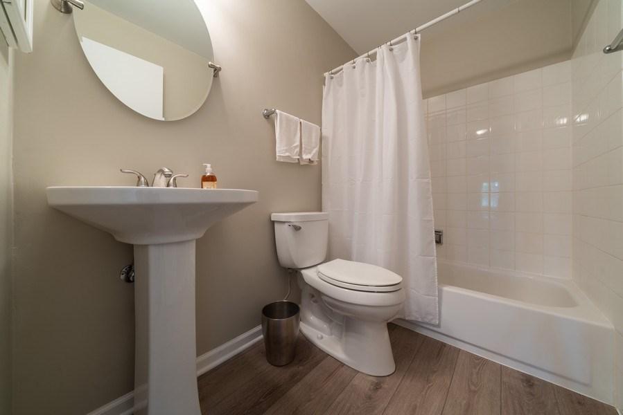 Real Estate Photography - 30W028 Juniper Court, Unit 028, Warrenville, IL, 60555 - 2nd Bathroom