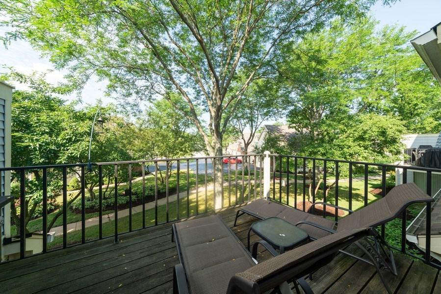 Real Estate Photography - 30W028 Juniper Court, Unit 028, Warrenville, IL, 60555 - Balcony