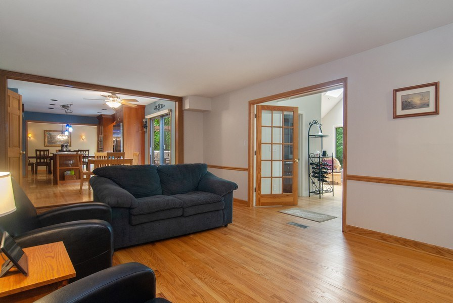 Real Estate Photography - 1140 Pine Court, Batavia, IL, 60510 - Family Room / Kitchen