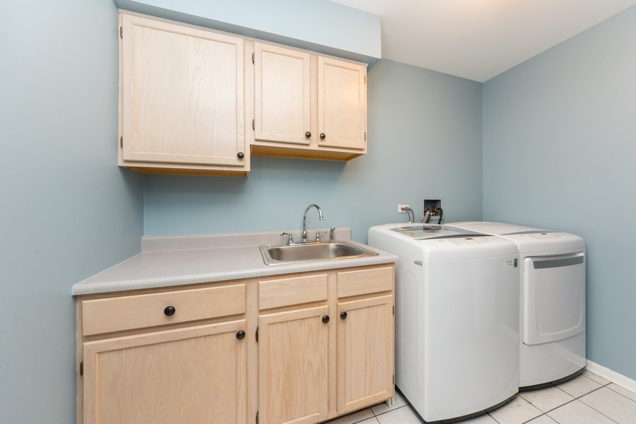 Real Estate Photography - 5255 Morningview Drive, Hoffman Estates, IL, 60192 - Laundry Room