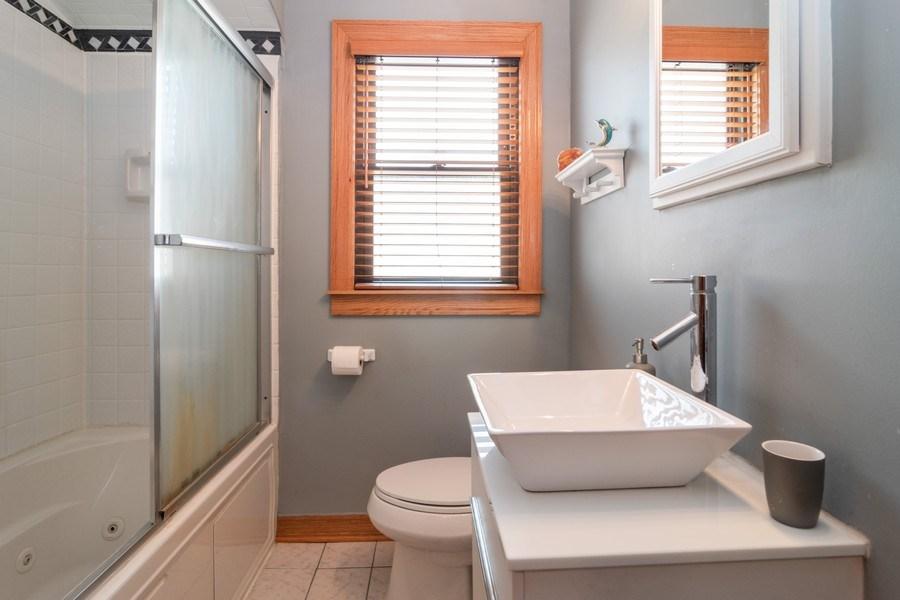 Real Estate Photography - 3625 Harvey Avenue, Berwyn, IL, 60402 - Bathroom