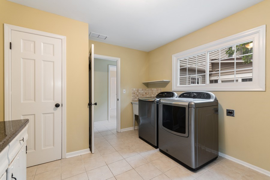 Real Estate Photography - 120 E. Bauer Road, Naperville, IL, 60563 - Laundry Room