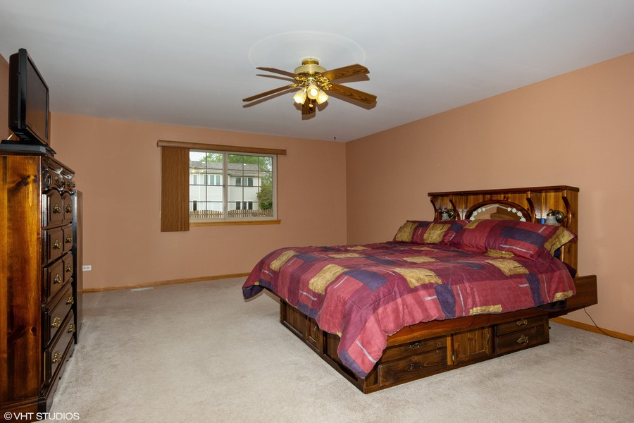Real Estate Photography - 638 Superior Drive, Romeoville, IL, 60446 - Master Bedroom