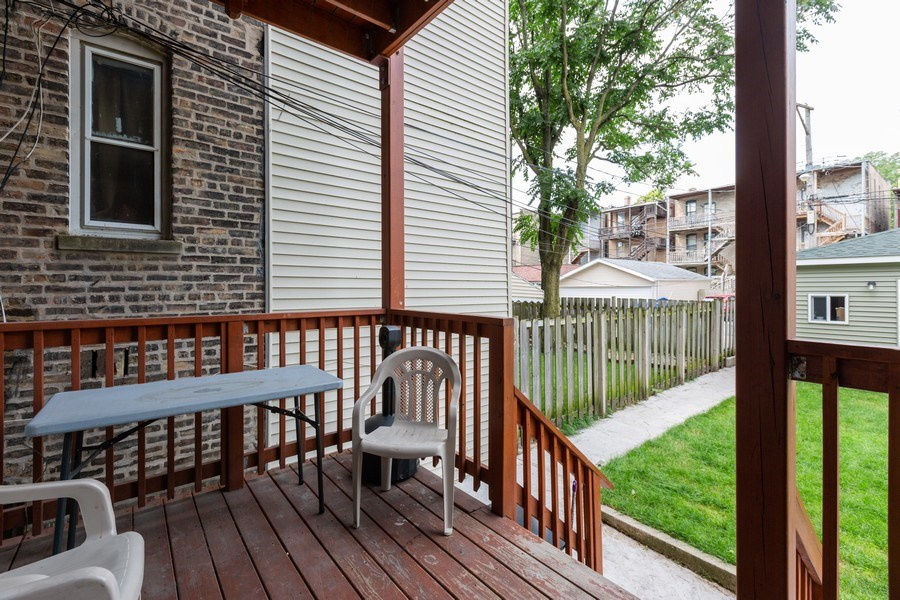 Real Estate Photography - 1122 N. Wolcott Avenue, Chicago, IL, 60622 - Deck
