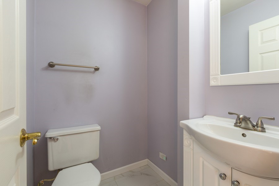 Real Estate Photography - 2269 N. Pheasant Ridge Court, Round Lake Beach, IL, 60073 - Update/upgraded 1st floor powder room