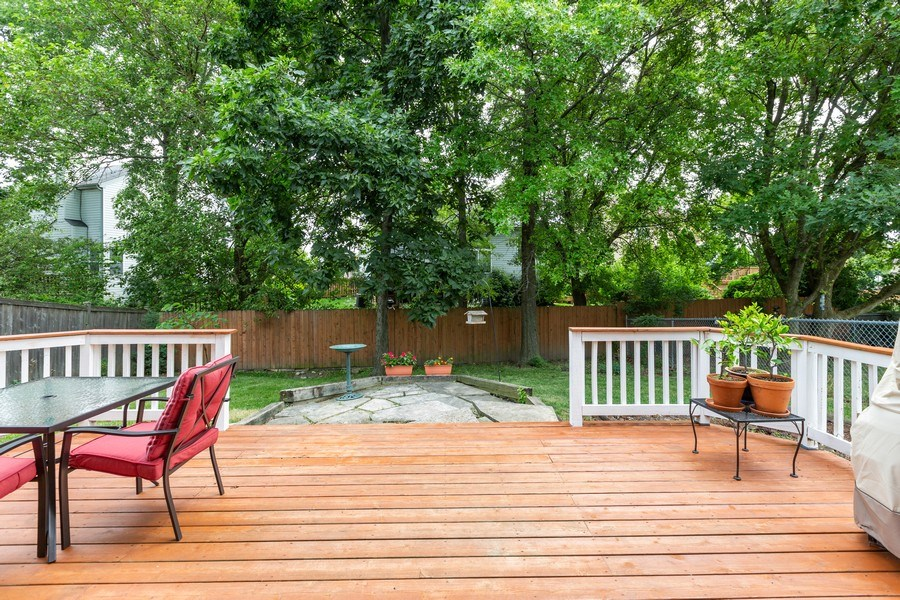Real Estate Photography - 2269 N. Pheasant Ridge Court, Round Lake Beach, IL, 60073 - Privacy and serenity right off your very own deck.