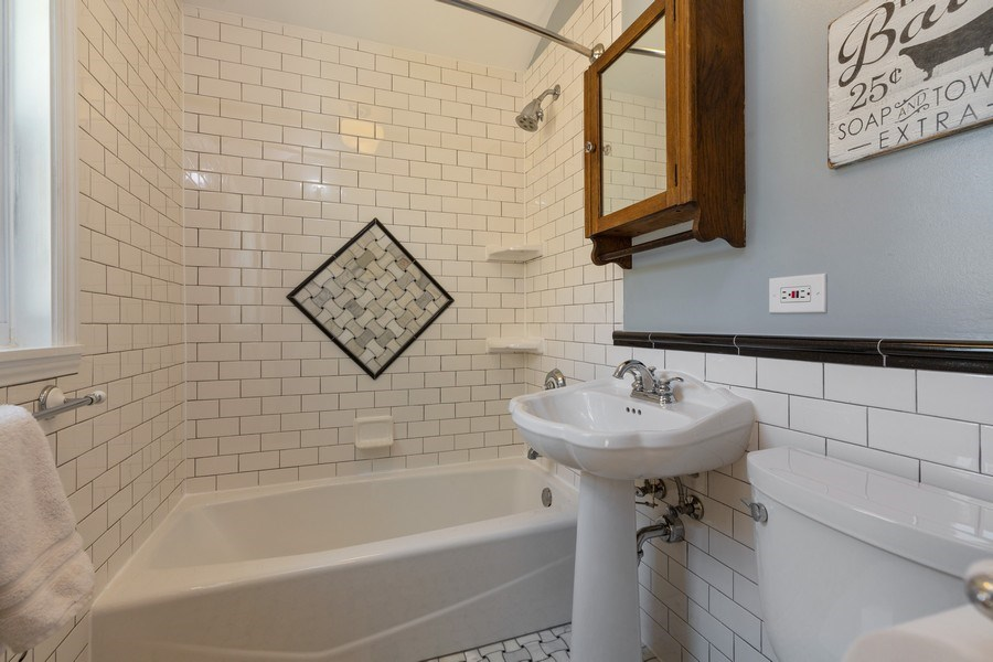 Real Estate Photography - 6443 N. Ogallah Avenue, Chicago, IL, 60631 - Bathroom