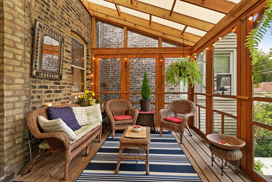 Real Estate Photography - 1440 W. Rascher Ave, Chicago, IL, 60640 - Sunroom