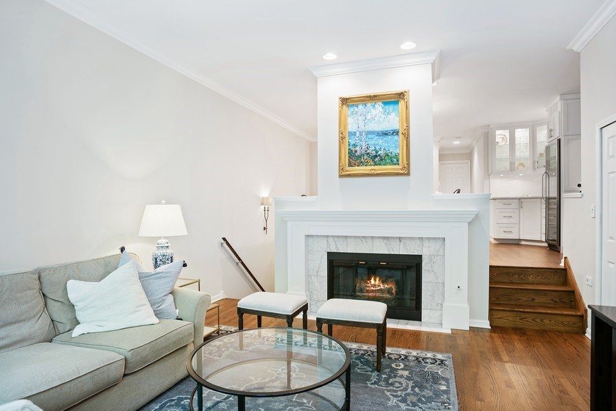 Real Estate Photography - 930 N. Clark Street, Unit E, Chicago, IL, 60610 - Living Room