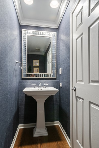 Real Estate Photography - 930 N. Clark Street, Unit E, Chicago, IL, 60610 - Powder Room