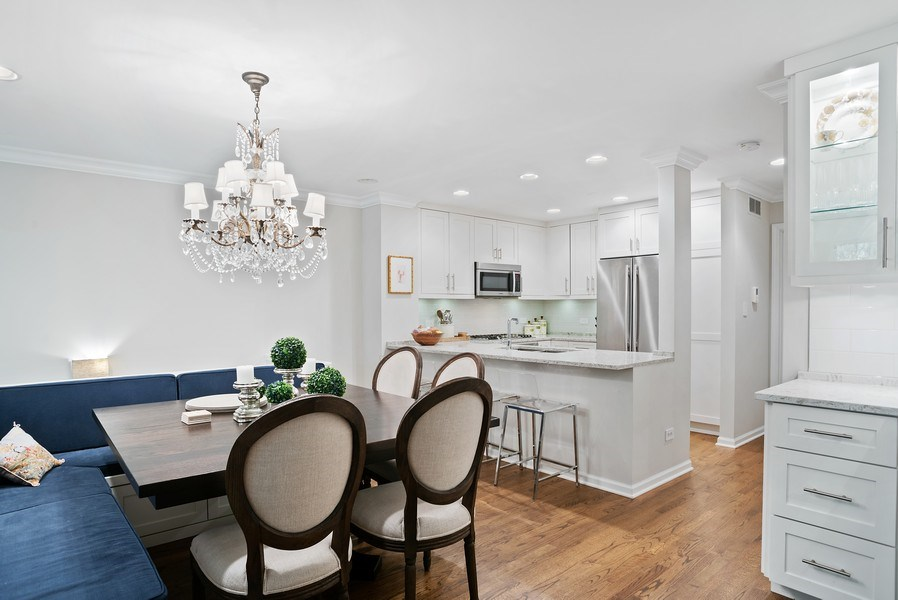 Real Estate Photography - 930 N. Clark Street, Unit E, Chicago, IL, 60610 - Kitchen/Dining
