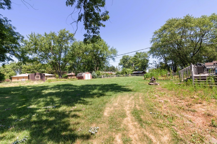 Real Estate Photography - 17W062 Hawthorne Avenue, Bensenville, IL, 60106 - Back Yard