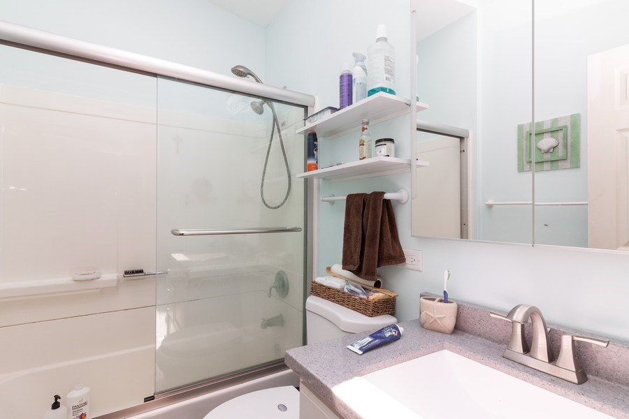 Real Estate Photography - 17W062 Hawthorne Avenue, Bensenville, IL, 60106 - Bathroom