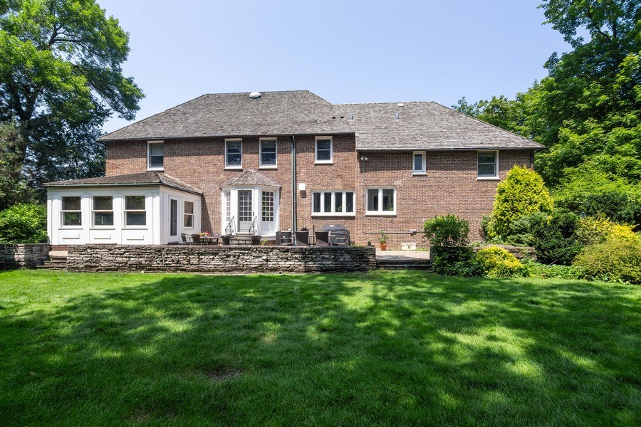 Real Estate Photography - 1330 Westmoor Trail, Winnetka, IL, 60093 - Rear View