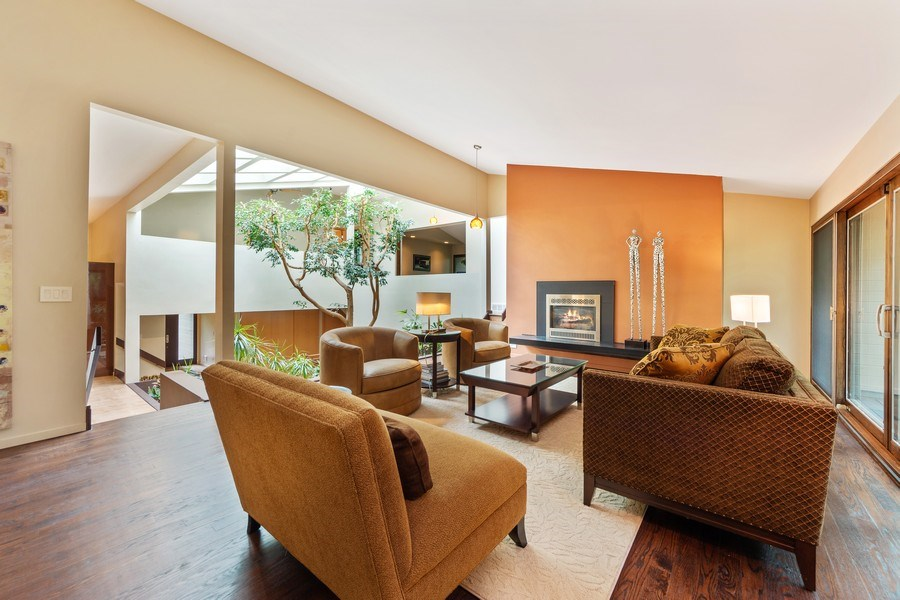 Real Estate Photography - 3 Wood Rock Rd, Barrington Hills, IL, 60010 - Living Room