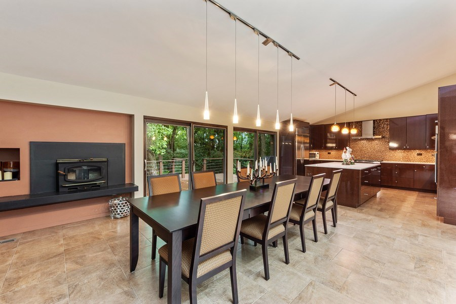 Real Estate Photography - 3 Wood Rock Rd, Barrington Hills, IL, 60010 - Dining Room / Kitchen