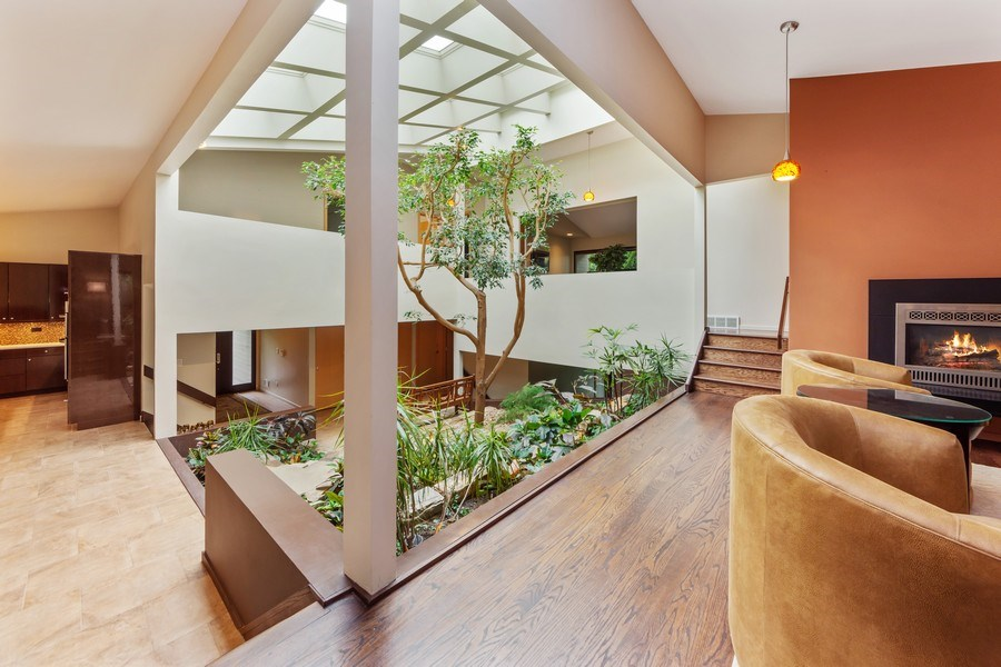Real Estate Photography - 3 Wood Rock Rd, Barrington Hills, IL, 60010 - Atrium / Living Room