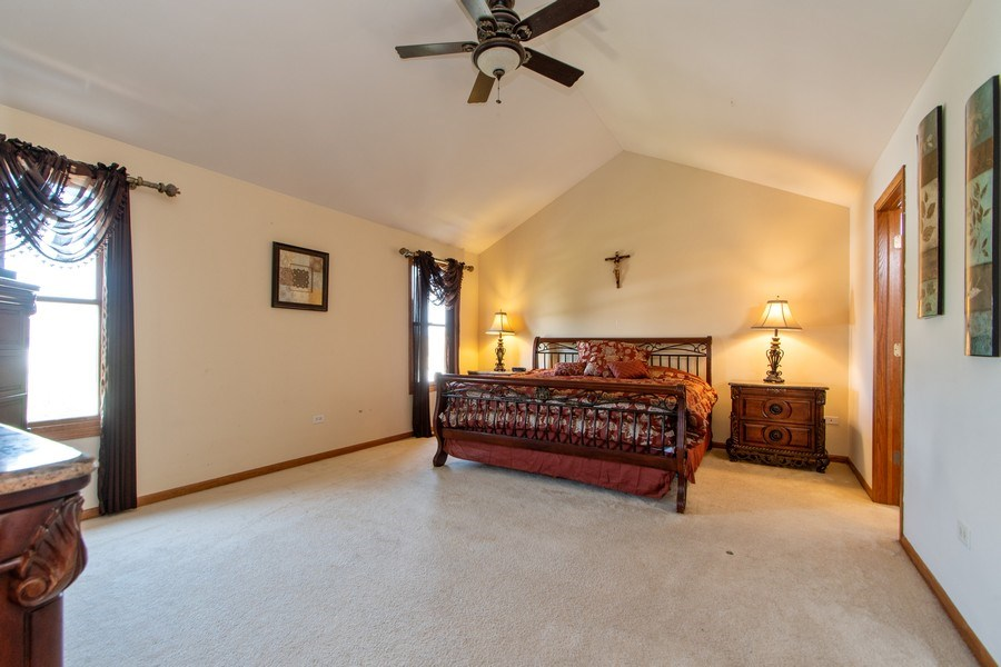 Real Estate Photography - 18284 Semmler Drive, Tinley Park, IL, 60487 - Master Bedroom