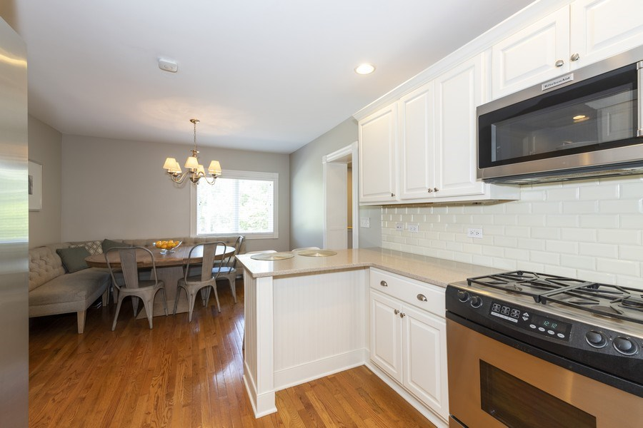 Real Estate Photography - 423 Taylor Avenue, Glen Ellyn, IL, 60137 - Kitchen, view towards the breakfast area