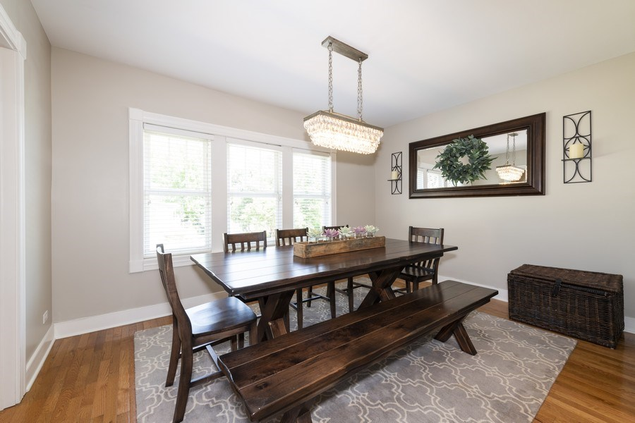 Real Estate Photography - 423 Taylor Avenue, Glen Ellyn, IL, 60137 - Dining Room opens to living room