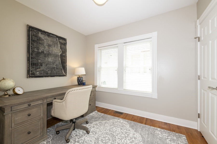 Real Estate Photography - 423 Taylor Avenue, Glen Ellyn, IL, 60137 - First Floor bedroom/office