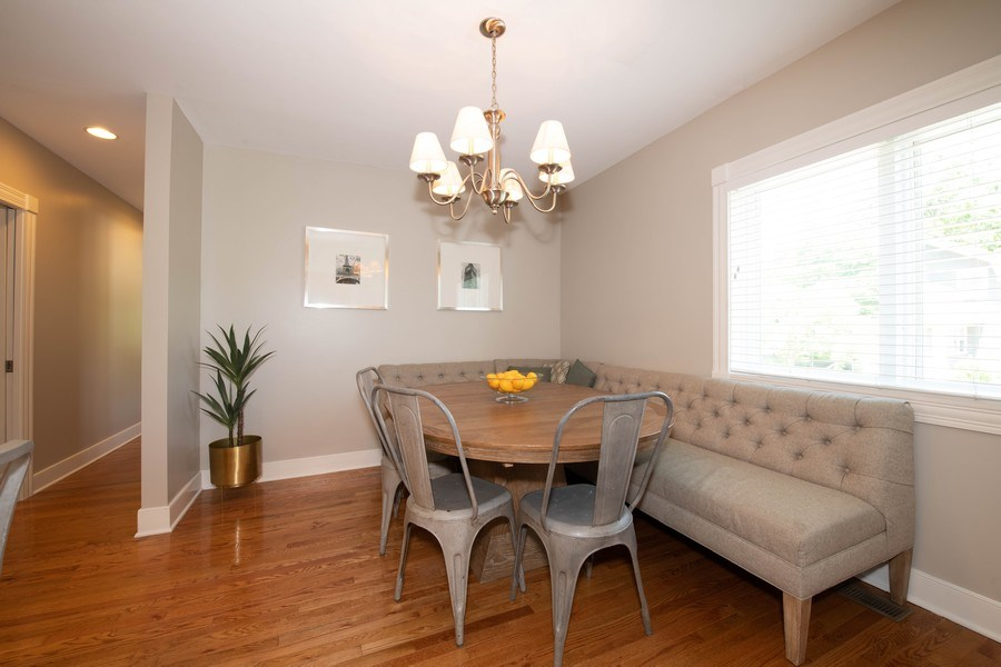 Real Estate Photography - 423 Taylor Avenue, Glen Ellyn, IL, 60137 - Spacious breakfast nook adjacent to kitchen