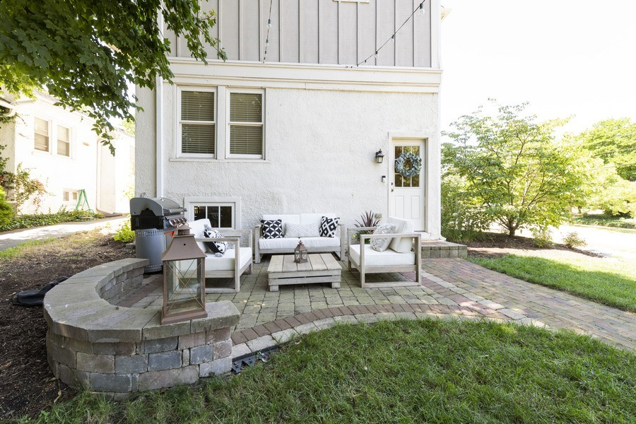 Real Estate Photography - 423 Taylor Avenue, Glen Ellyn, IL, 60137 - Lovely back patio area