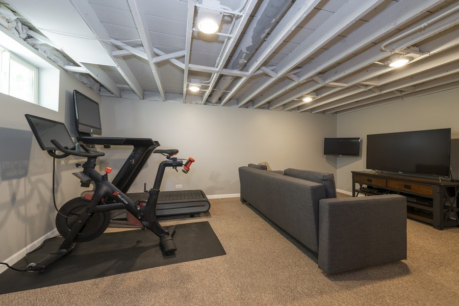 Real Estate Photography - 423 Taylor Avenue, Glen Ellyn, IL, 60137 - Separate rec area in basement