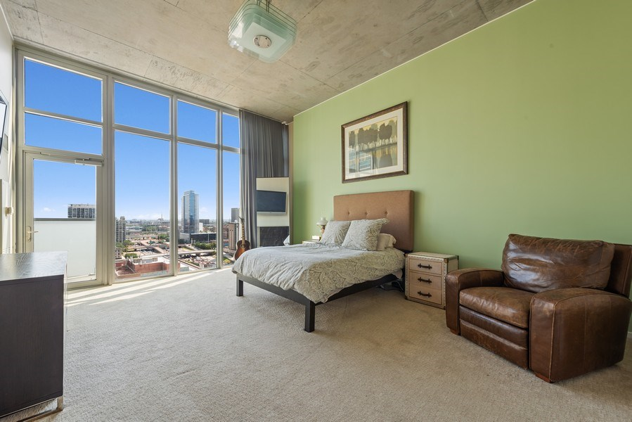 Real Estate Photography - 659 West Randolph St, 1806, Chicago, IL, 60661 - Master Bedroom