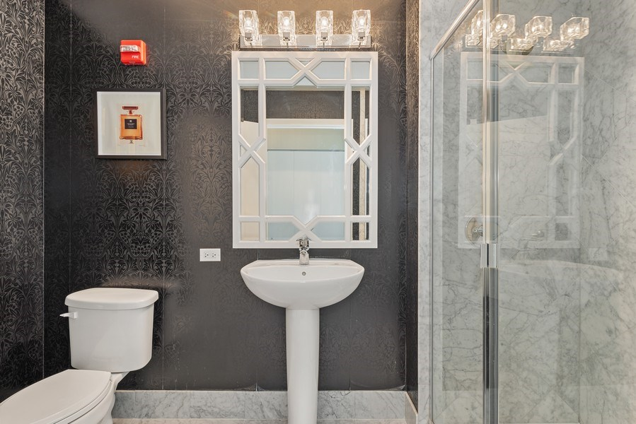Real Estate Photography - 659 West Randolph St, 1806, Chicago, IL, 60661 - Powder Room