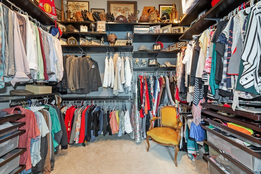 Real Estate Photography - 659 West Randolph St, 1806, Chicago, IL, 60661 - Master Bedroom Closet