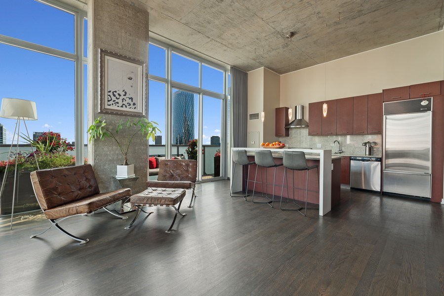 Real Estate Photography - 659 West Randolph St, 1806, Chicago, IL, 60661 - Kitchen