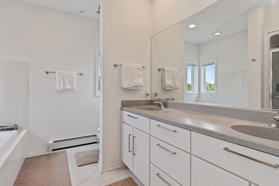 Real Estate Photography - 33842 North Lake Shore Dr, Gages Lake, IL, 60030 - Master Bathroom