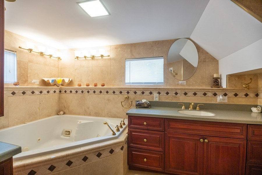 Real Estate Photography - 1326 E. Northwest Highway, Arlington Heights, IL, 60004 - 3rd Bathroom