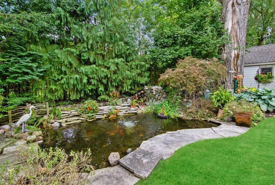 Real Estate Photography - 618 N. Scottsvale Lane, Arlington Heights, IL, 60004 - Koi Pond & Waterfall
