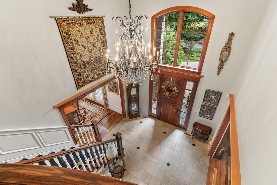 Real Estate Photography - 618 N. Scottsvale Lane, Arlington Heights, IL, 60004 - Foyer View from Second Floor