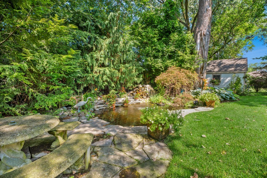 Real Estate Photography - 618 N. Scottsvale Lane, Arlington Heights, IL, 60004 - Koi Pond and Waterfall
