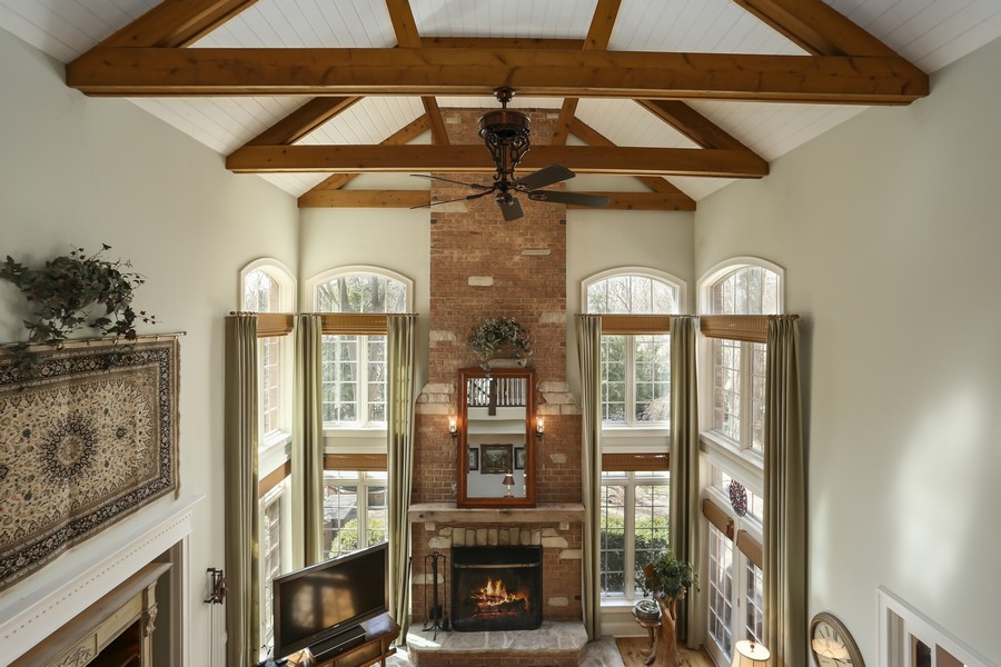 Real Estate Photography - 618 N. Scottsvale Lane, Arlington Heights, IL, 60004 - Family Room from Balcony