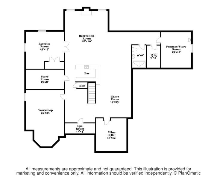 Real Estate Photography - 618 N. Scottsvale Lane, Arlington Heights, IL, 60004 - Basement Floor Plan
