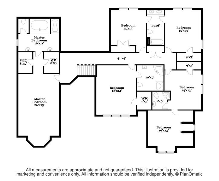 Real Estate Photography - 618 N. Scottsvale Lane, Arlington Heights, IL, 60004 - Second Floor Plan