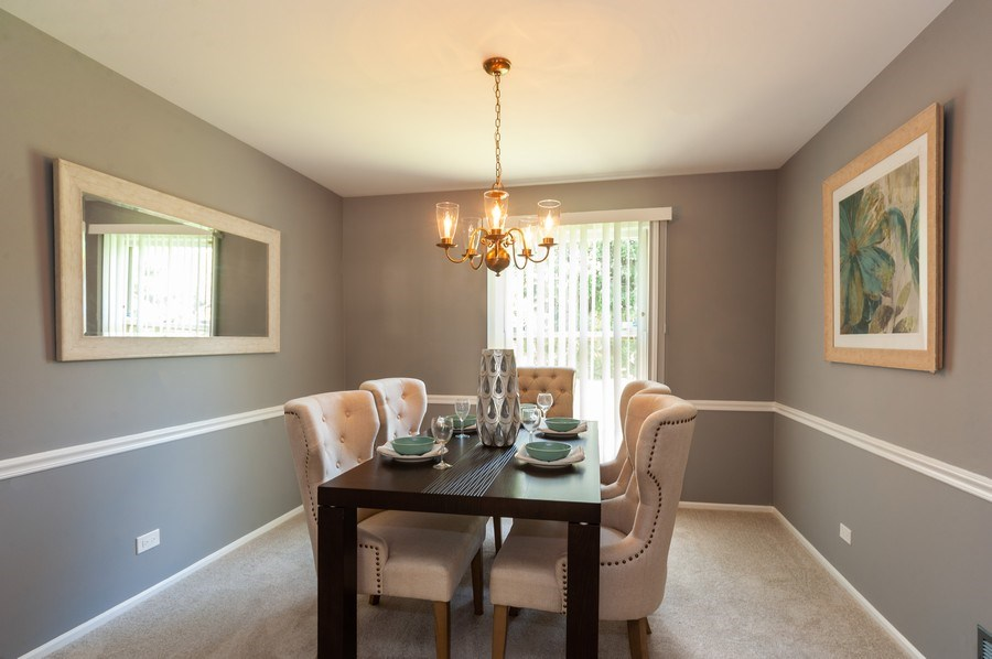 Real Estate Photography - 1051 Cobblestone Ct, Northbrook, IL, 60062 - Dining Room