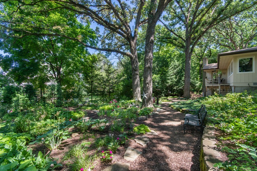 Real Estate Photography - 941 Anne Road, Naperville, IL, 60540 - Wander the stone lined paths
