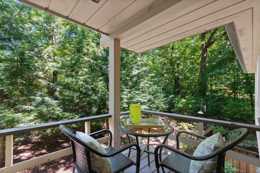 Real Estate Photography - 941 Anne Road, Naperville, IL, 60540 - This covered porch also offers peaceful views