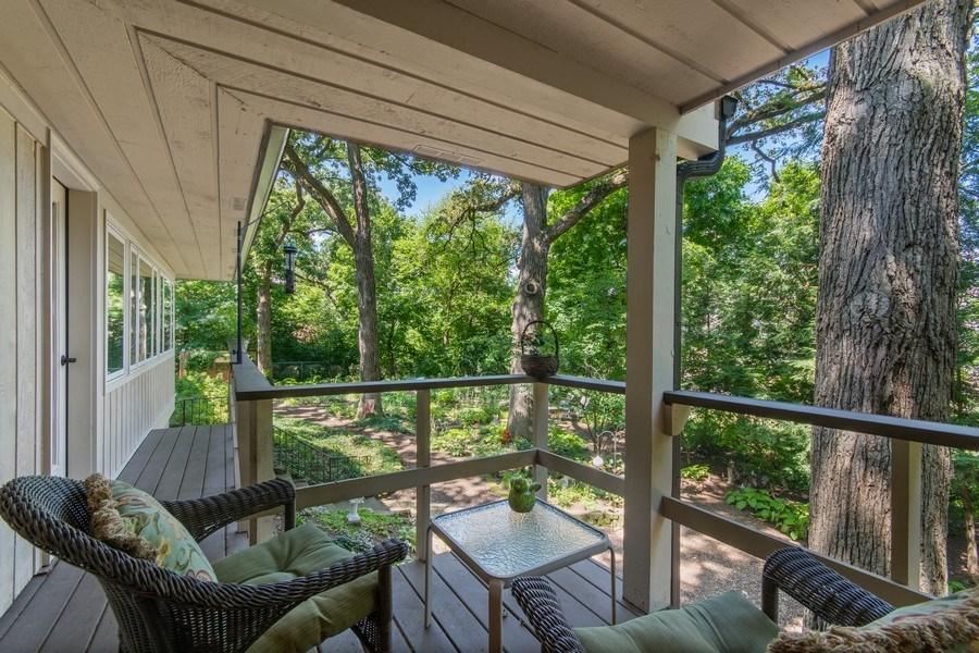 Real Estate Photography - 941 Anne Road, Naperville, IL, 60540 - One of 3 covered porches
