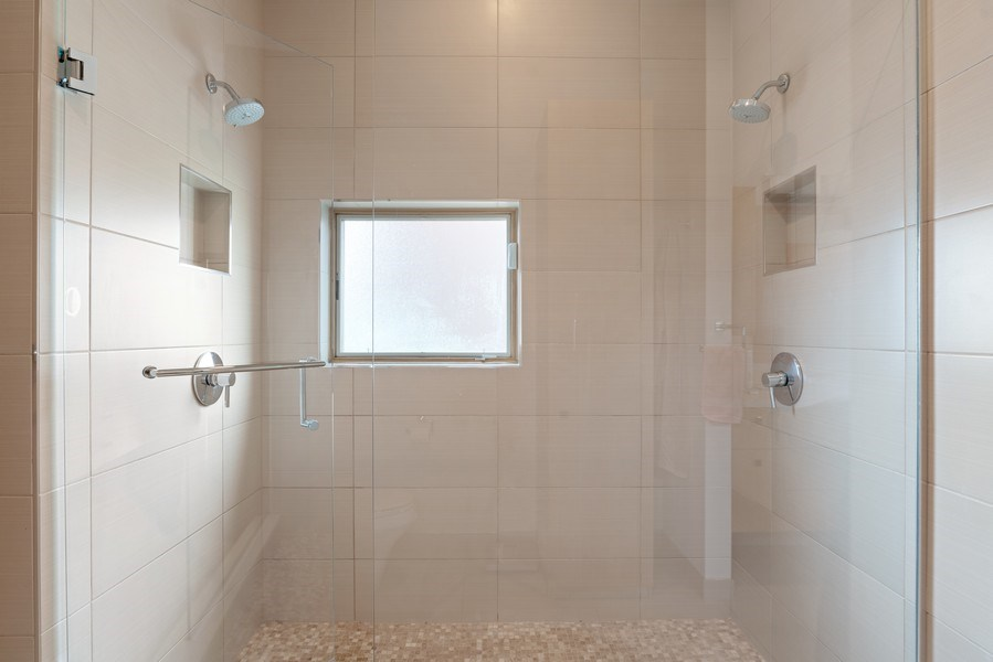 Real Estate Photography - 650 East Oakwood Blvd, Chicago, IL, 60653 - Master Bathroom Double Shower