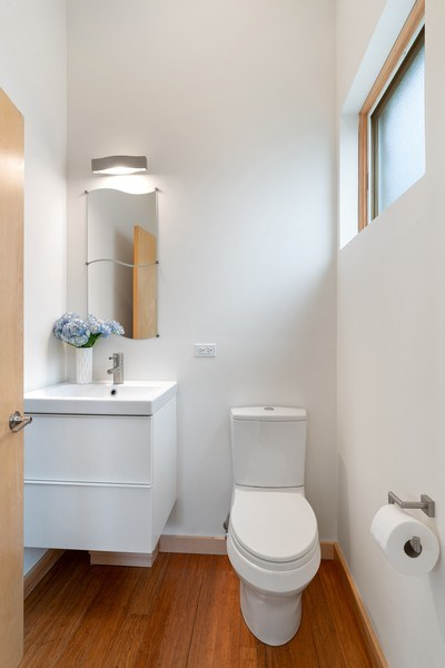Real Estate Photography - 650 East Oakwood Blvd, Chicago, IL, 60653 - Powder Room on Main Level
