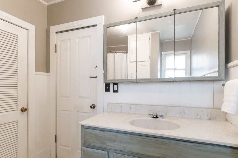 Real Estate Photography - 240 South Lincoln Ave, Aurora, IL, 60505 - 2nd Bathroom